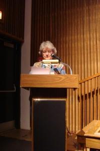 Suzanne Alexander reading her work.