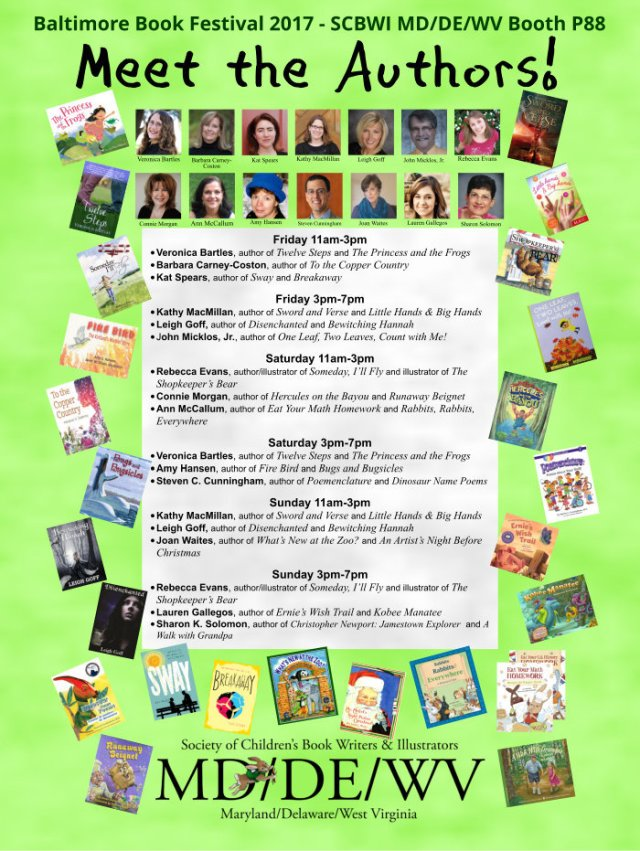 Baltimore Book Festival Signing Schedule